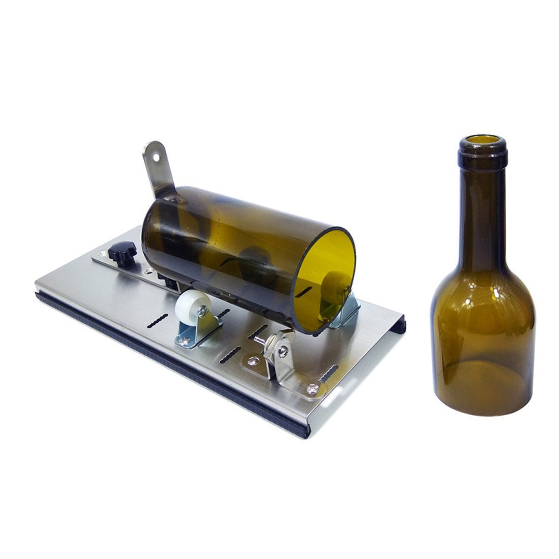 Glass Cutter for Bottles, Glass Cutting Tool for Wine Beer Liquor Whiskey Alcohol Champagne Water or Soda Round Bottles Leiqin