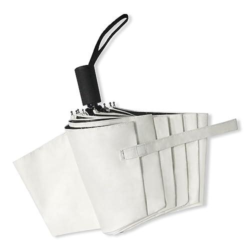 自動開閉折りたたみ傘 Araretyan折り畳み傘 自動開閉式 UVカット99.% 超遮光 晴雨兼用傘 ワンタッチボタン おしゃれ 軽量 自動開閉折りたたみ傘(ホワイト)