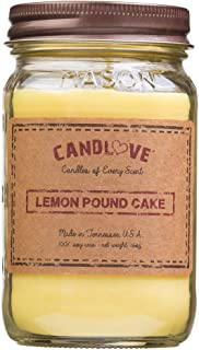 product image for Candlove Lemon Pound Cake Scented 16oz Mason Jar Candle 100% Soy Made in The USA