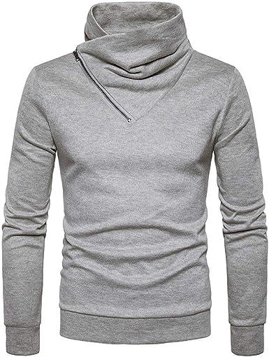 BaZhaHei-Jersey Suéter Hombres de Invierno Delgado cálido Punto ...