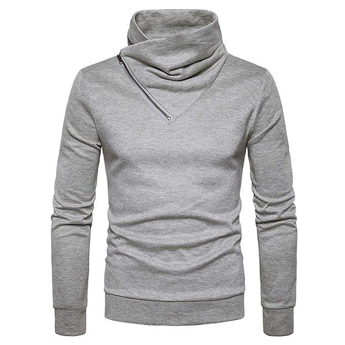 84b4db216 BaZhaHei-Jersey Suéter Hombres de Invierno Delgado cálido Punto Alto Cuello  Jersey Blusa Cuello Alto