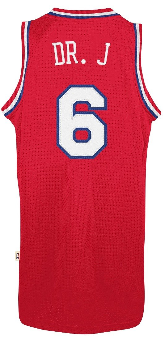 brand new 1b2e6 a23b1 adidas Julius Erving Philadelphia 76ers NBA Throwback Dr. J ...
