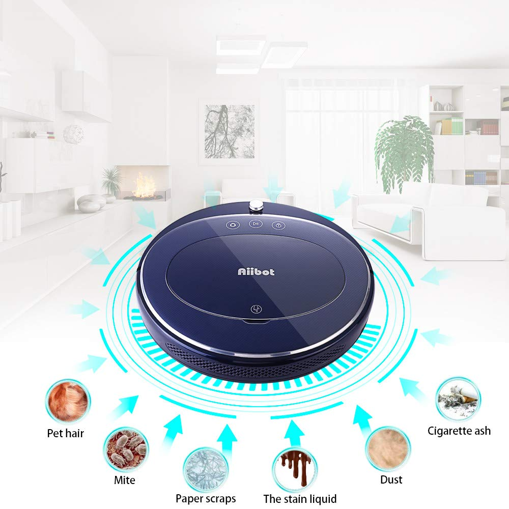 Sonmer Aiibot T360 Smart Vacuum Cleaner Sweeping Robot, Gyro Navigation Self-recharge 4 Cleaning Modes-Blue,With Remote Control by Sonmer (Image #2)