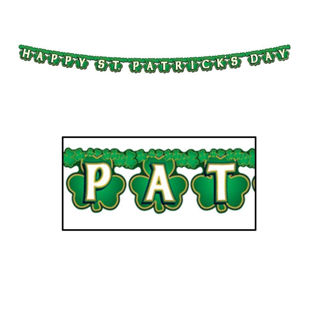 Shamrock Happy St Patricks Day Streamer Party Accessory Value 2-Pack