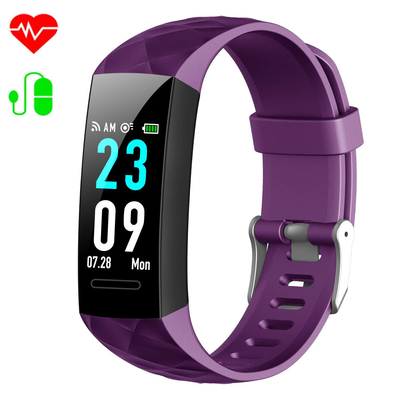 Fitness Tracker Uhr Pulsmesser Wasserdicht IP67 Blutdruckmesser Schrittz/ähler Uhr Stoppuhr Sport GPS Aktivit/ätstracker Schlafmonitor f/ür Kinder Damen M/änner HETP Fitness Armband mit Blutdruck