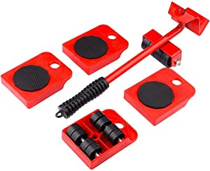 GEMITTO Furniture Sliders Kit, Heavy Duty Furniture Lifter with 4 Sliders for Easily Safely Moving, Furniture Slides Kit Appliance Roller Suitable for Heavy Furniture, 360 Degree Rotatable Pads
