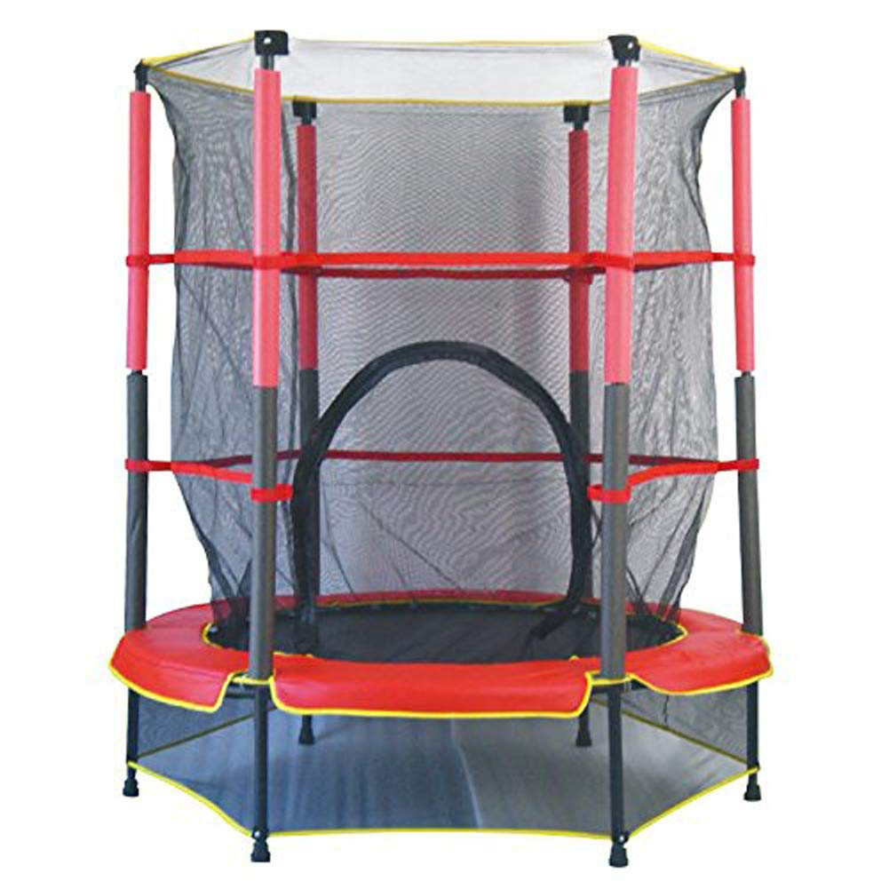 BBTTS 子供用 室内 家庭用トランポリン 1.4メートル 保護ネット付き ジャンプベッド ガーデンおもちゃ   B07L6LQXM9