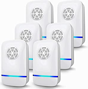 Ultrasonic Pest Repeller Plug in, 6 Pack Electronic Pest Repellent, 2020 Upgraded Pest Control Reject Device for Insects Bugs Mice Roaches Mosquito Rats Spiders Flea Mouse Cockroach Ants