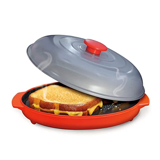 LasVogos Placa asadera Microondas Grill Microondas Pan para Frutas ...