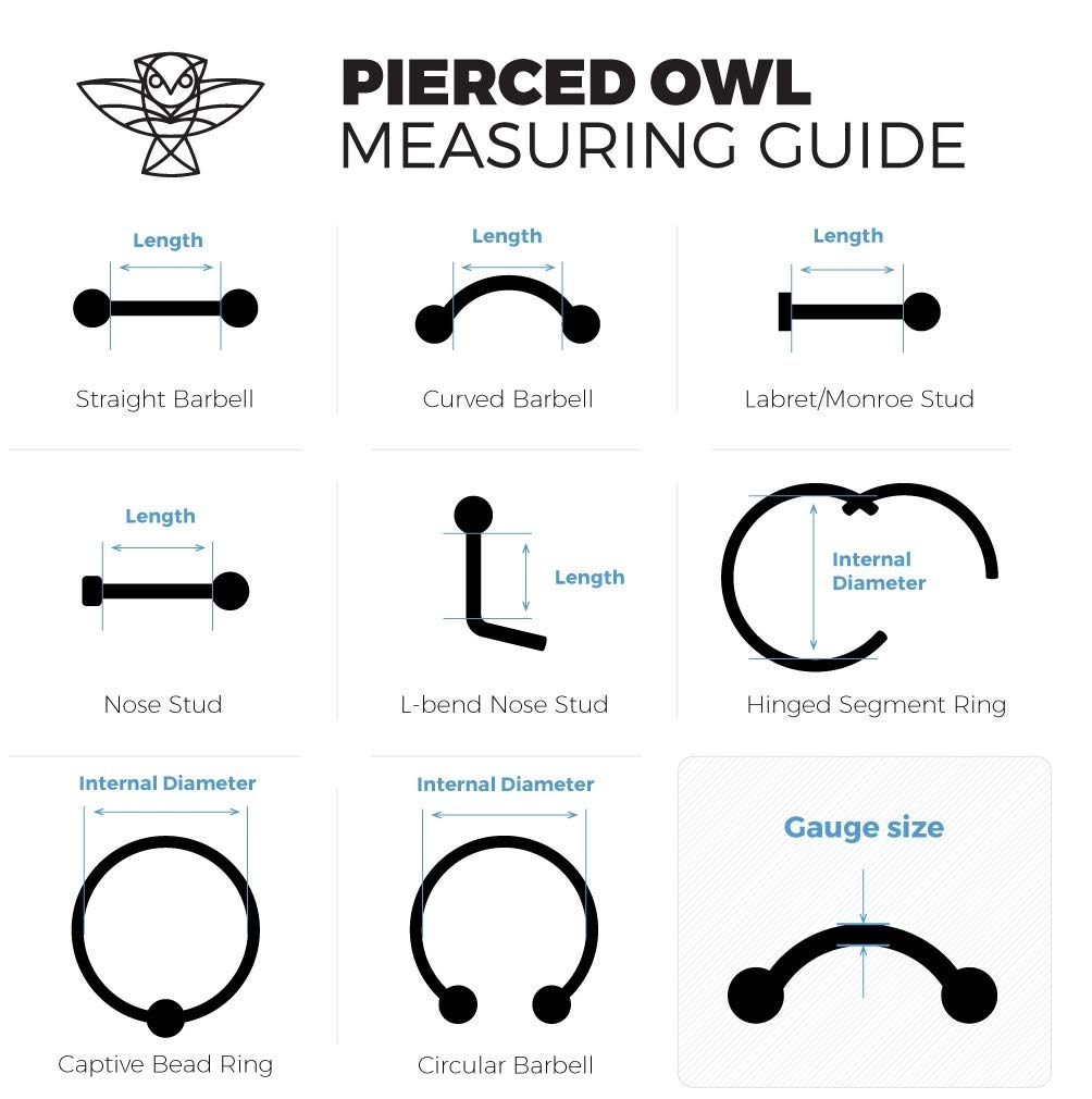 Lot of 10 Value Pack - Clear Push Top Piercing Retainers 14g-16g-Clear 3mm Flat Top Bioflex Retainer for Lips-Ears-Nose (Choose Length, Gauge) (Lot of 10-16GA 5/16'') by Pierced Owl