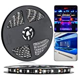 LED TV Backlight Kit LinkStyle 16.4Ft Flexible LED Strip Lights Kit 300 LEDs Tape Light, DC 12V 5050SMD for Bedroom Home Bar Party Cabinet Kitchen Showcase Window(Power Adapter Not Included)-Blue