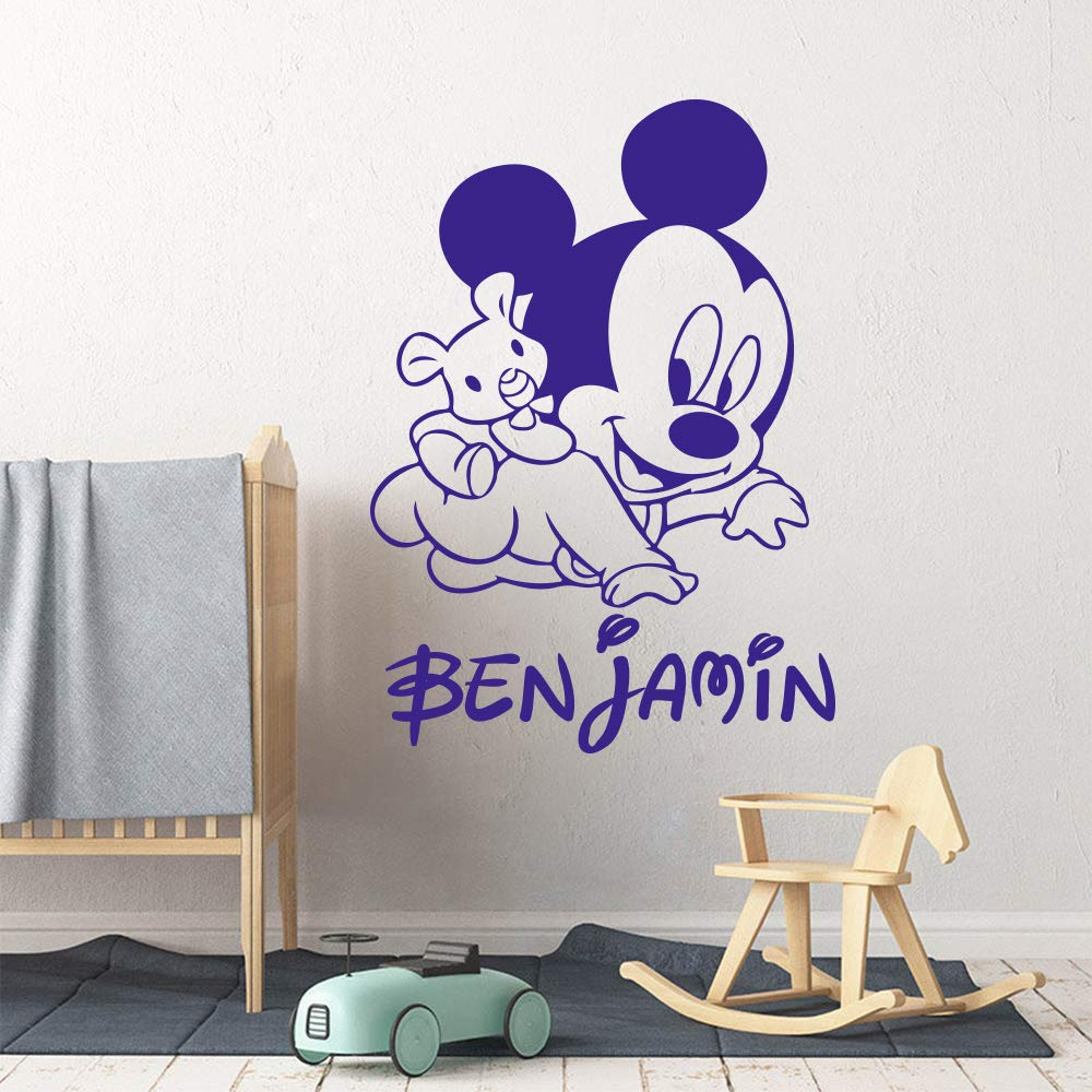 Mickey Minnie Mouse Wall Art Sticker Decal Nombre personalizado ...