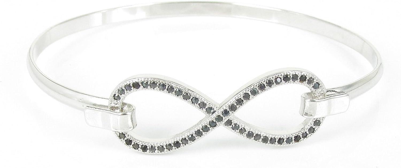 S.D.F jewellry-Wholesale hot Style Jewellery Womens Fashionable Gorgeous Bowknot Bangle Black CZ Stone.
