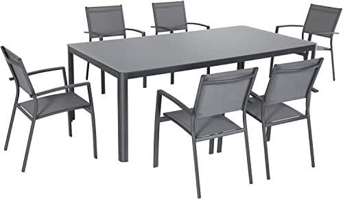 Hanover FRESDN7PC-GRY Fresno 7 Piece Dining Set