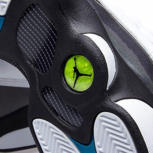 Nike Air Jordan 13 Retro BG Zapatillas de deporte, Niños Blanco / Negro / Gris (White / Trpcl Teal-Blck-Wlf Gry)
