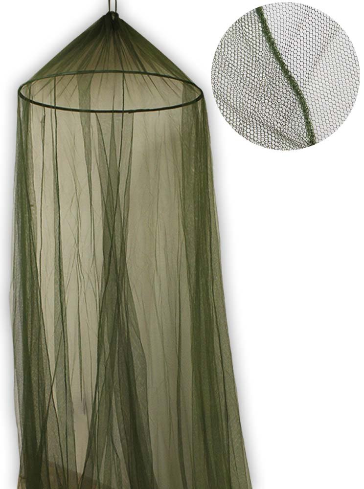 Mosquito Bed Net w/ Hanging Ring - Olive Green