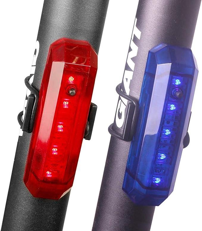 Funsport - Luz trasera para bicicleta recargable por USB y casco ...