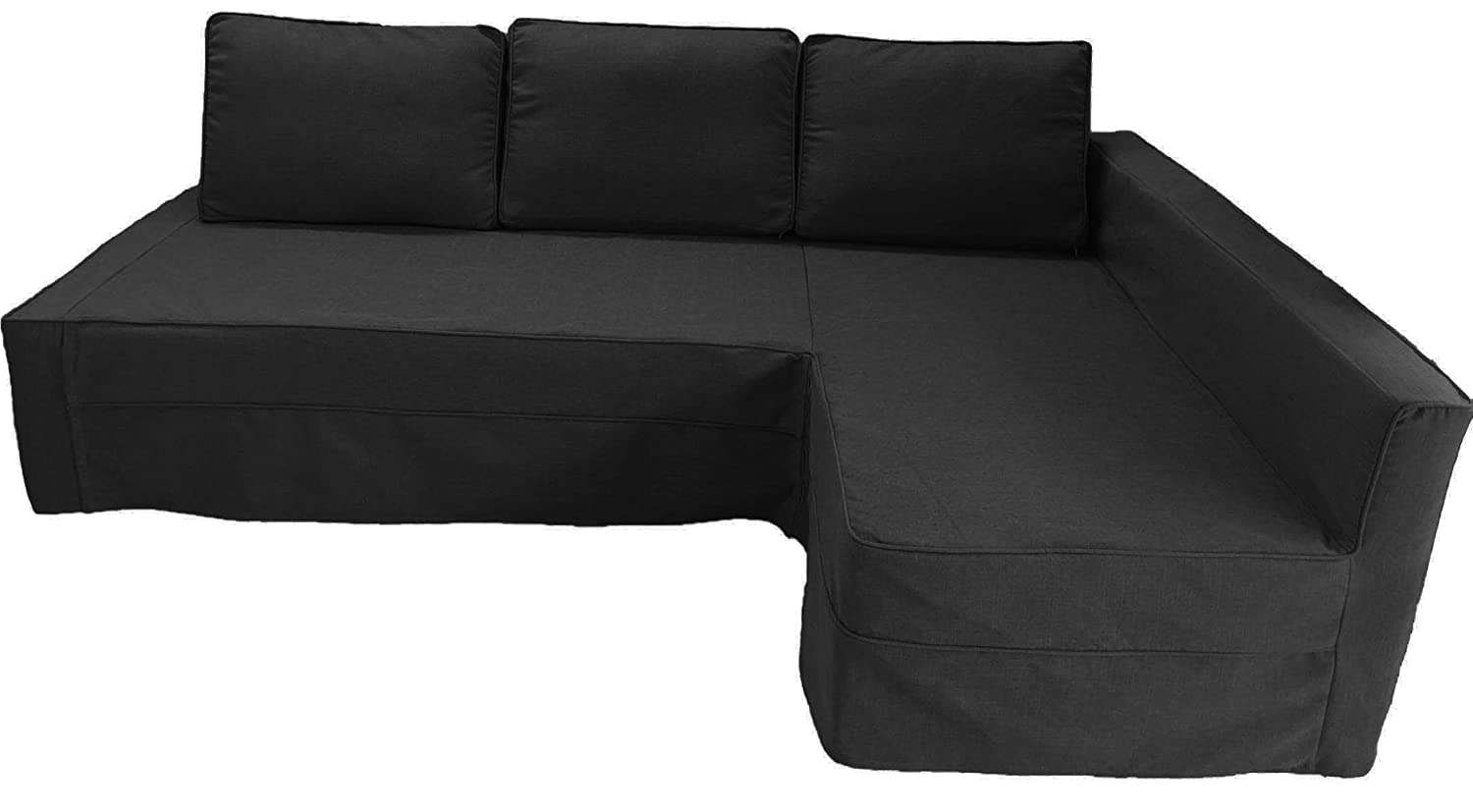 Custom made cover fits ikea friheten sofa bed with chaise hidabed - Amazon Com The Dark Gray Friheten Thick Cotton Sofa Cover Replacement Is Custom Made For Ikea Friheten Sofa Bed Or Corner Or Sectional Slipcover