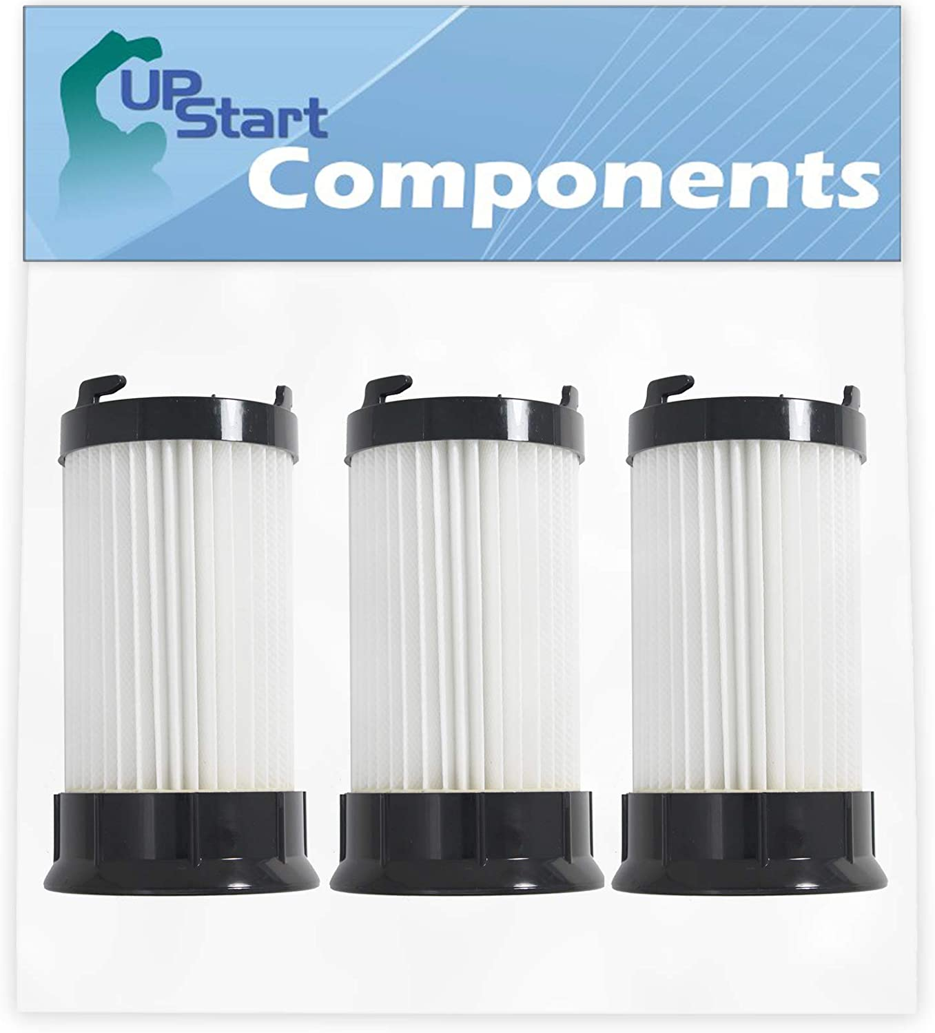 3-Pack DCF-4 DCF-18 Filter Replacement for Eureka Part Number 18505, 3690, 62132, 63073 & GE Part Number 61700, 61770, 28608-1 Vacuum Cleaner - Compatible with Eureka DCF-4 DCF-18 HEPA Dust Cup Filter
