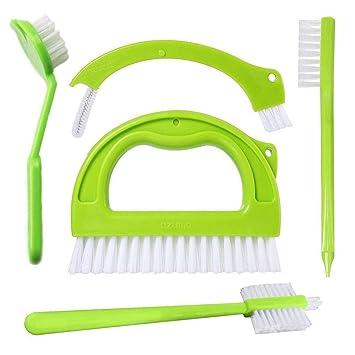 Limpiador de baldosas Cepillo para juntas, 5 en 1 Juego de Multifunción Cepillo de limpieza