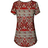 #9: Hotkey Clearance Women Shirts On Sale Teen Girls Plus Size Blouse T Shirt Pullover Tunics Tops for Summer