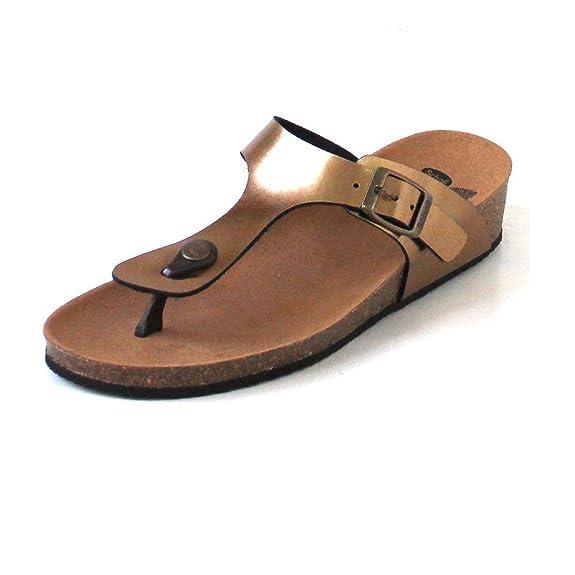 Scholl Gandia Mujer Sandalias Gold: Amazon.es: Zapatos y ...