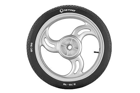 TVS Tyres Rib SC36 2.75-18 42P Tube-Type Bike Tyre, Front