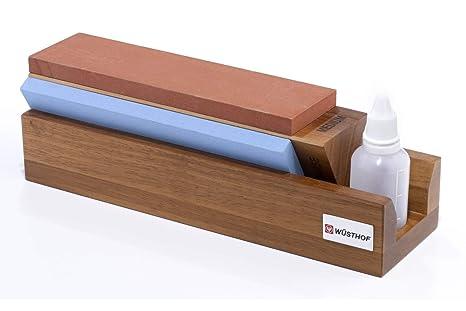 Amazon.com: Wüsthof – tri-stone sharpener- 3 Fine, Medio, y ...