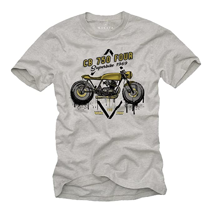 Biker Shirt, Cafe Racer, Motocicleta, Talla S -XXL