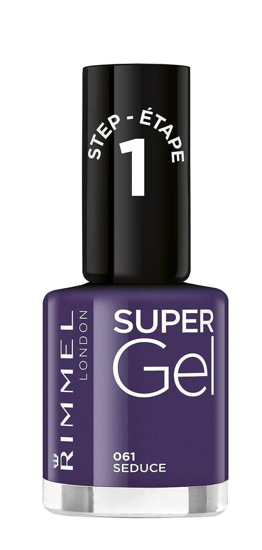 Rimmel London Shade 61 Seduce Super Gel Nail Polish -Purple, 12 ml: Amazon.co.uk: Beauty