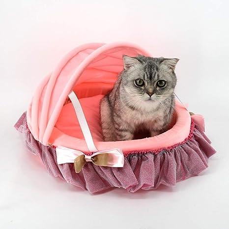 Cama para Mascotas, Cama para Gatos, Pequeña Cálida Esponja de Alta Densidad Lavable Cuna