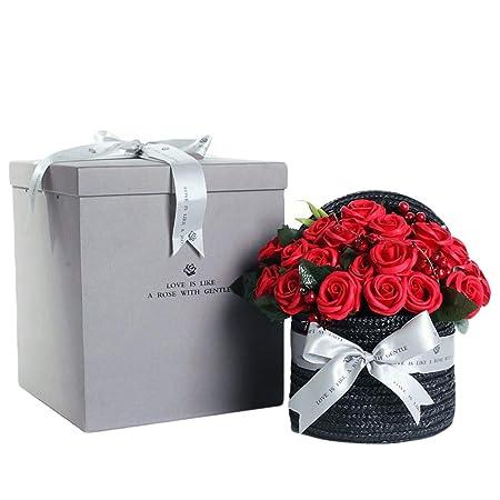 YJYRCYJLH Caja de Regalo con Flores de jabón, Estilo Retro ...