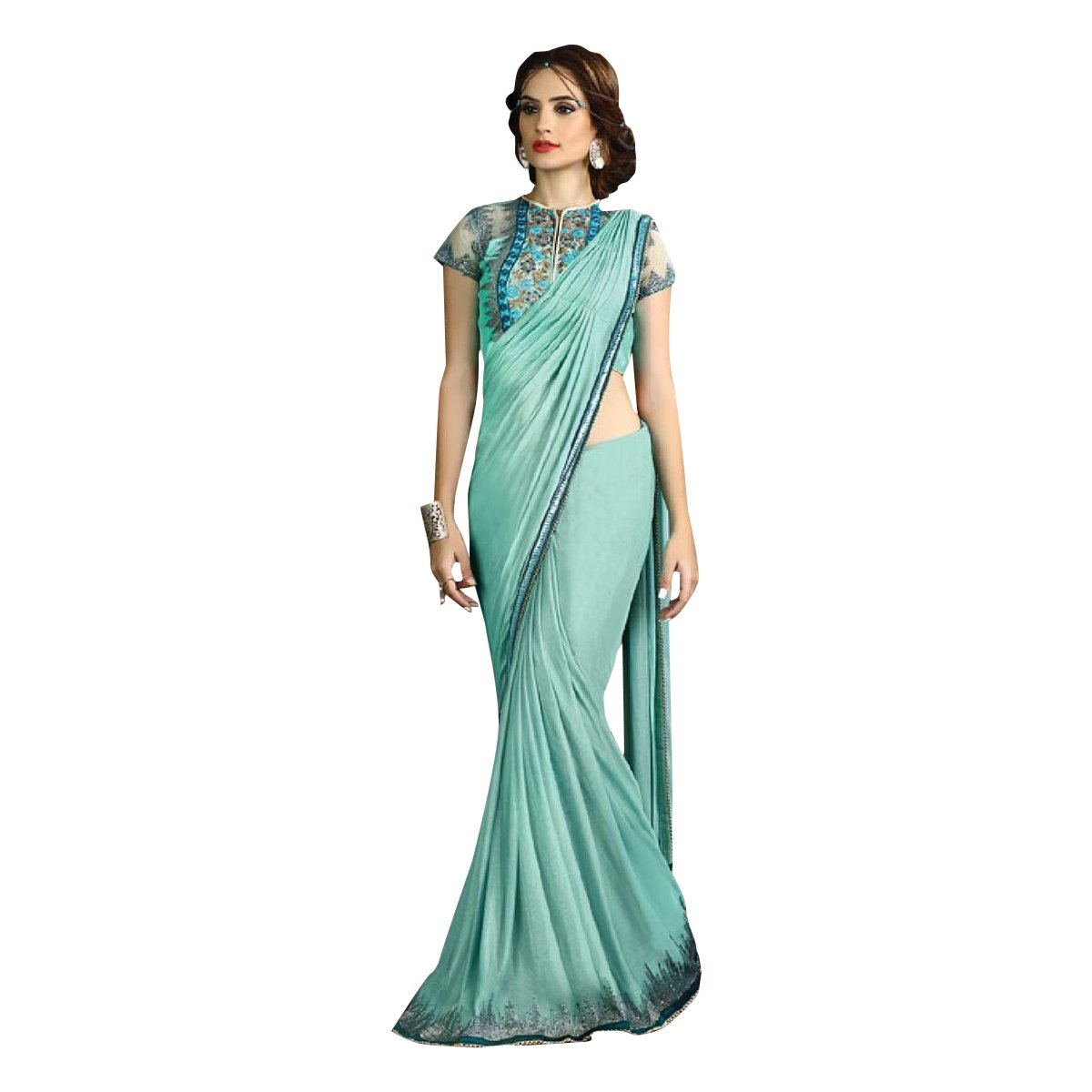 Designer RichLook Party Wear Indian Saree Wedding Bridal Suit Lehenga Women Dress 515