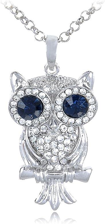 Alilang Tono de Plata Acabado - Disfraz de Búho Big Ojos Azules ...