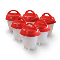 Zantec 6PCS Silicon Egg Boiler High-temperature Resistant Egg Cooker Kitchen Utensils