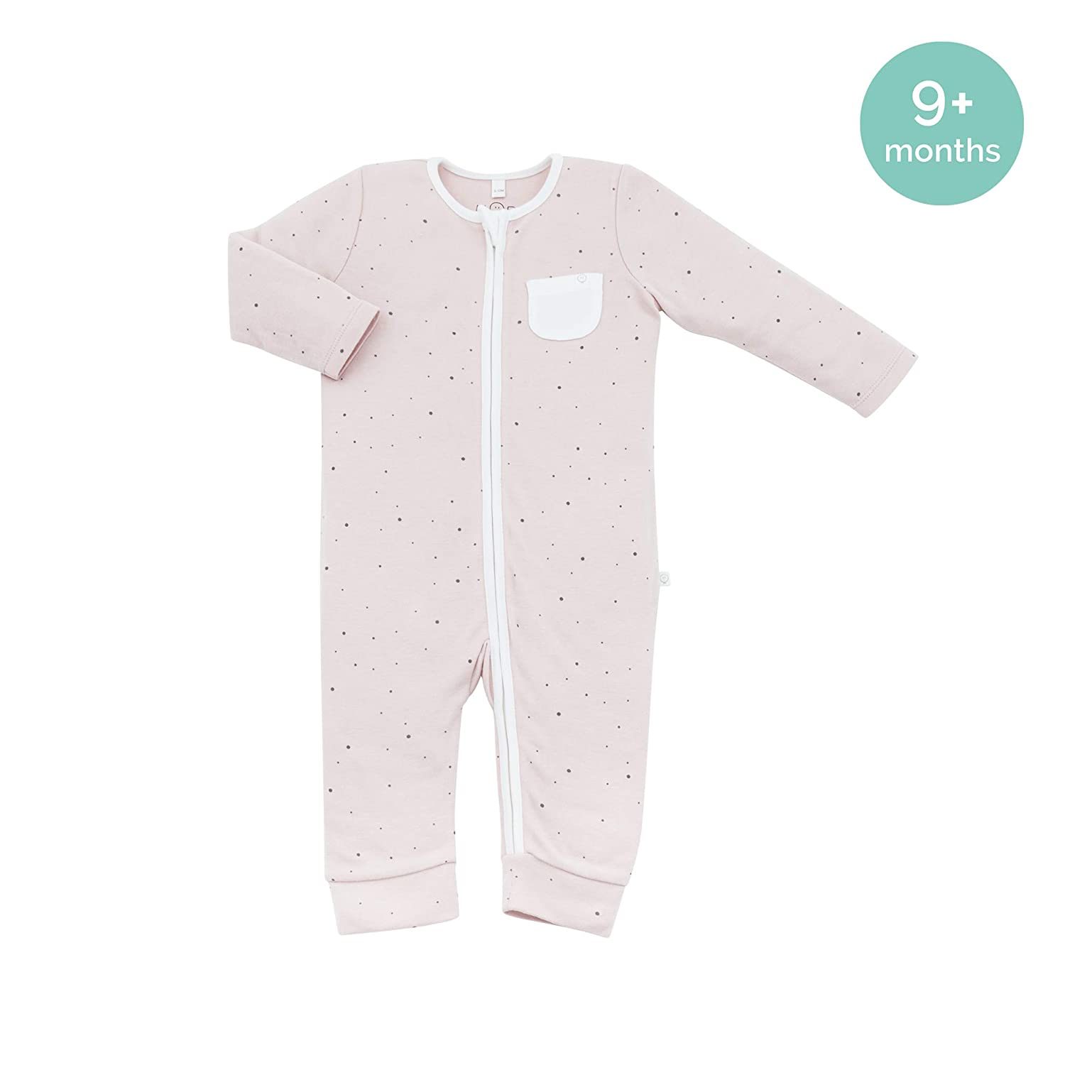 30/% Organic Cotton /& 70/% Bamboo available from newborn up to 2 years 0-3 Months, Stardust MORI Zip-Up Sleepsuit