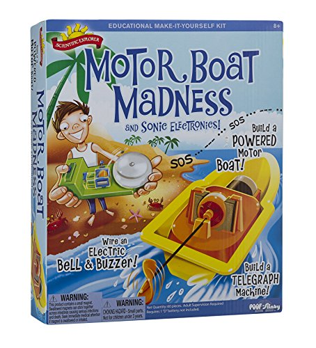 Scientific Explorer Motor Boat Madness and Sonic Electronics (Electromagnetism Kit)
