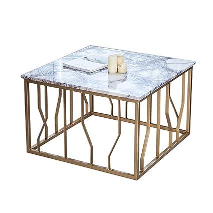 Amazon.com: CSQ Living Room Marble Coffee Table, Creative Square ...