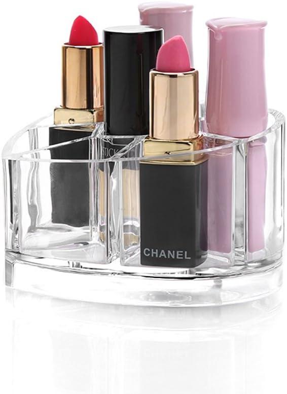 QSEVEN - Estuche organizador de cosméticos con forma de corazón para pintalabios de maquillaje: Amazon.es: Hogar