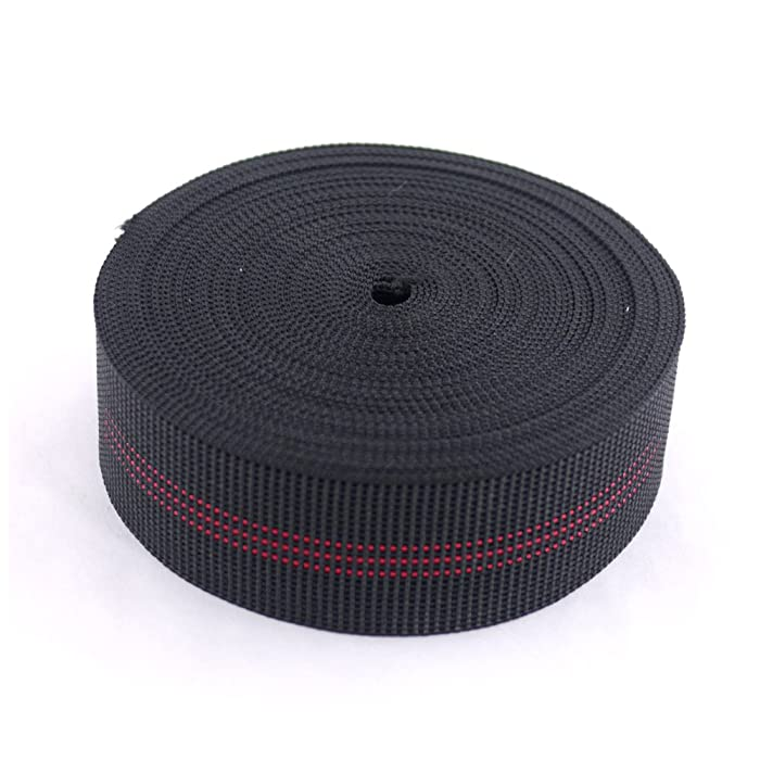 """Houseables Chair Webbing, Elastic, Elasbelt, Two Inch (2"""") Wide, Forty Ft (40') Roll, Latex, DIY Upholstery, Furniture Repair and Modification, Stretchy Spring Alternative, Sofa, Couch, Chair"""