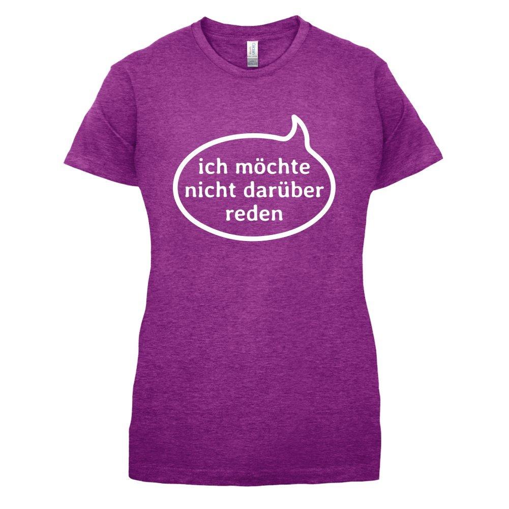 Ich möchte nicht darüber reden - Damen T-Shirt - 14 Farben: Amazon.de:  Bekleidung