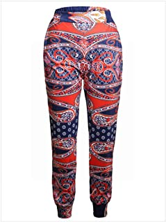MTX-Girl cloth Pantalones Casuales de Bolsillo de Cintura Alta con Estampado Único de Mujer, Color, s