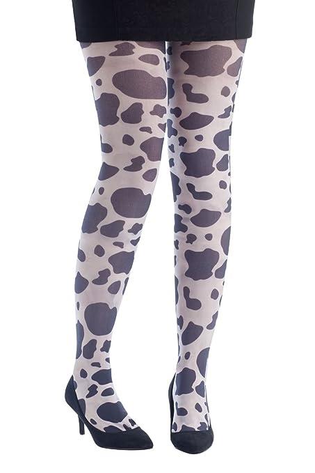 cc1d0f37ae70af PTIT CLOWN P 'tit clown 74378 - Cow Print Opaque Tights - One Size:  Amazon.co.uk: Toys & Games