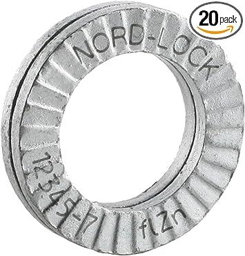 Wedge locking washer Carbon Stl Zinc flake coated through hard 1 2 glued pairs//pack
