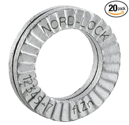 Wedge Locking Washer Carbon STL Zinc Flake Coated Through Hardened M10 20  glued Pairs/Pack