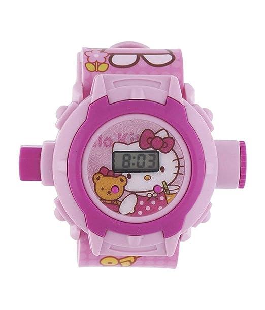 Hello Kitty - Reloj de Pulsera Digital para niños, diseño de Dibujos Animados: Amazon.es: Relojes
