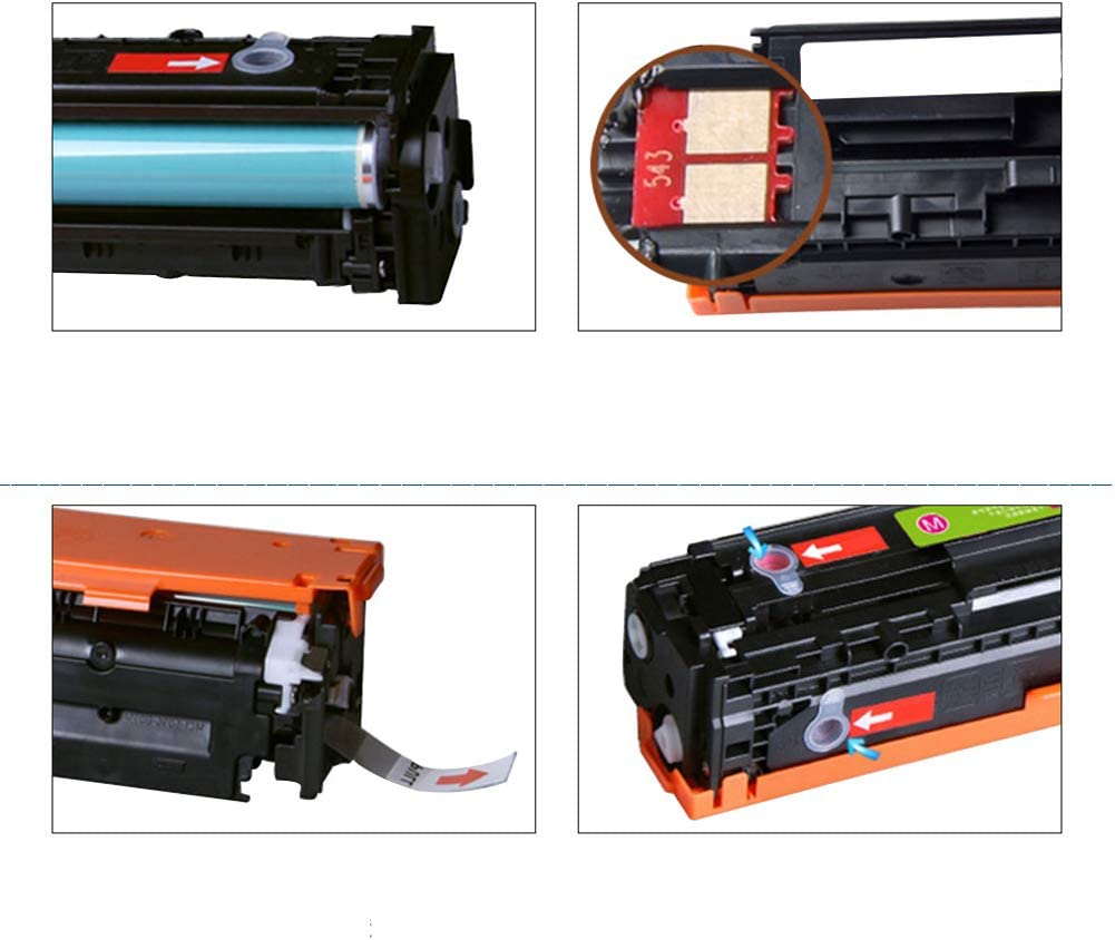 Compatible Toner Cartridge Replacement for for HP CB540A 125A for HP CP1215 CP1515N CP1518NI CM1312NFI CM1312MFP Color Laserjet Containing Chips Can Be Used After Installation-Combination