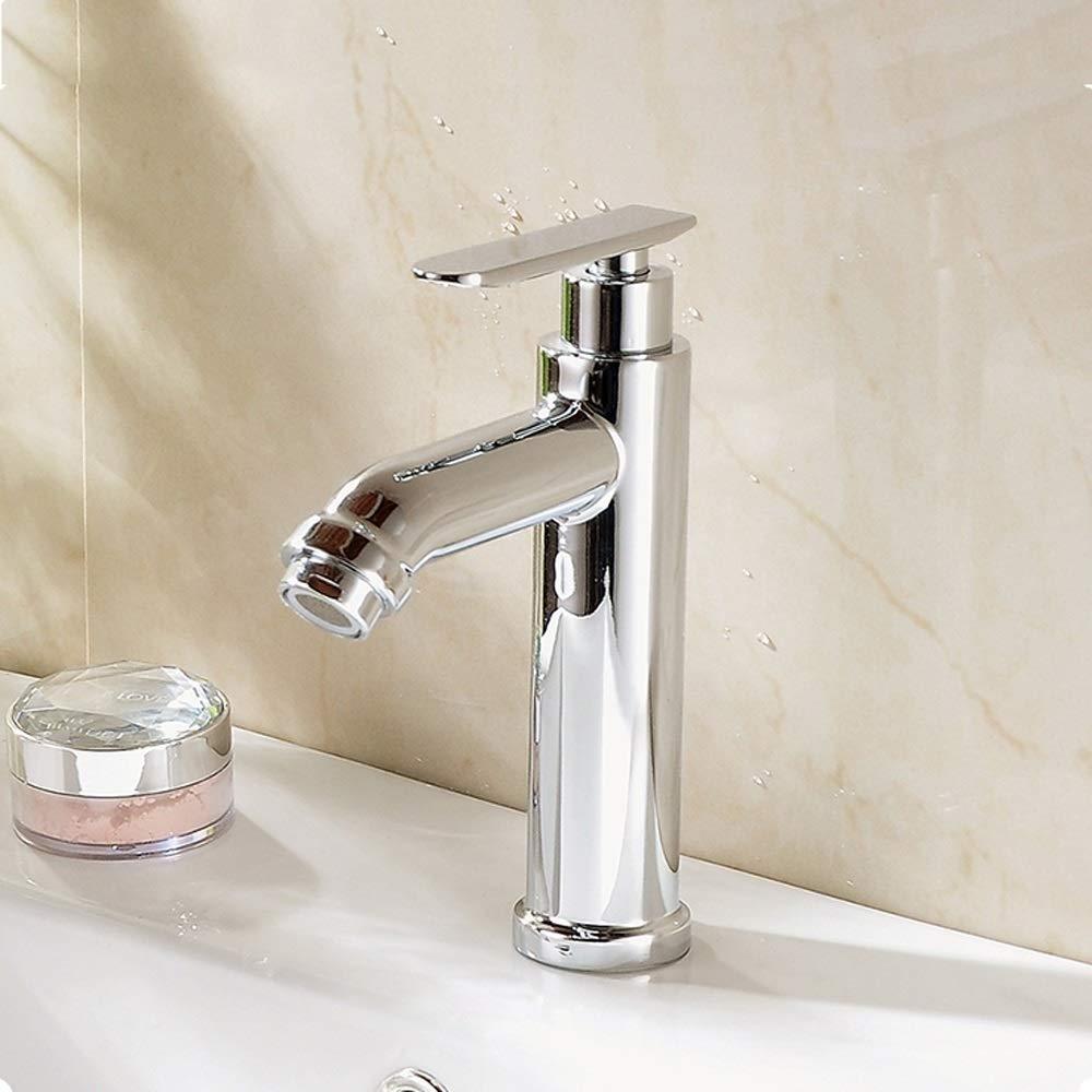 Ppigle Kurzes Aufsatzwaschbecken Waschbecken Kunstbecken Kupfer Einzelkaltwasserhahn Durable