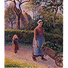 Pissarro Camille Woman with a Wheelbarrow 100% Hand Painted Oil Paintings Reproductions 24X36 Inch