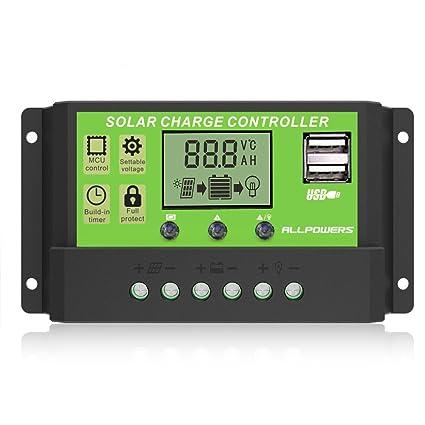 Laderegler 20a Mppt Solar Panel Battery Regulator Charge Controller 12 24v Auto Pwm Usb Heimwerker w